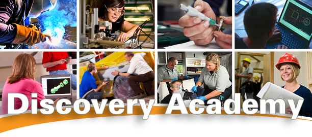 Photo collage of Discovery Academy programs of study