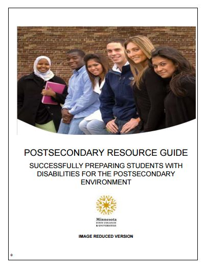 MnSCU Resource Guide - Successfully Preparing Students with Disabilities for the Postsecondary Environment [.pdf]