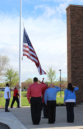 Flag Raising ceremony at SCTCC