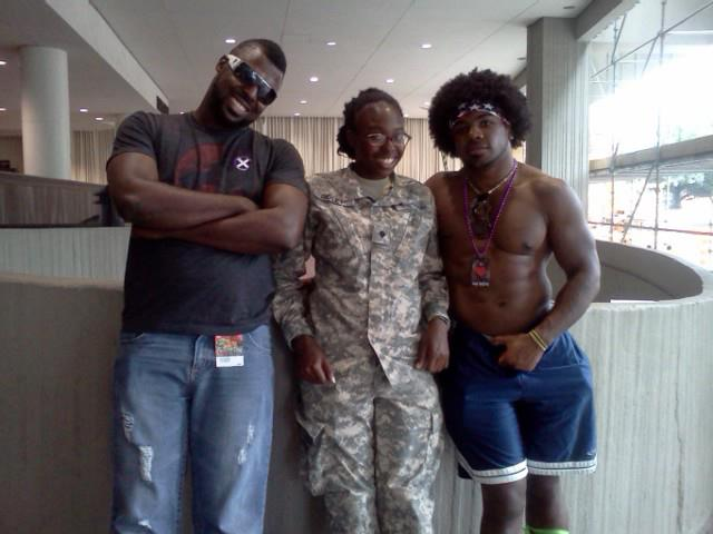 Ebone and her brothers at Dragon Con