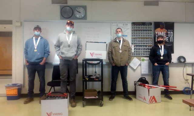 Skills winners from Electrical standing in row