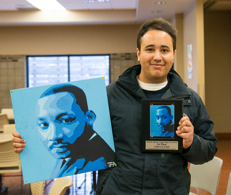 Jabreel - first place winner SCTCC MLK Art
