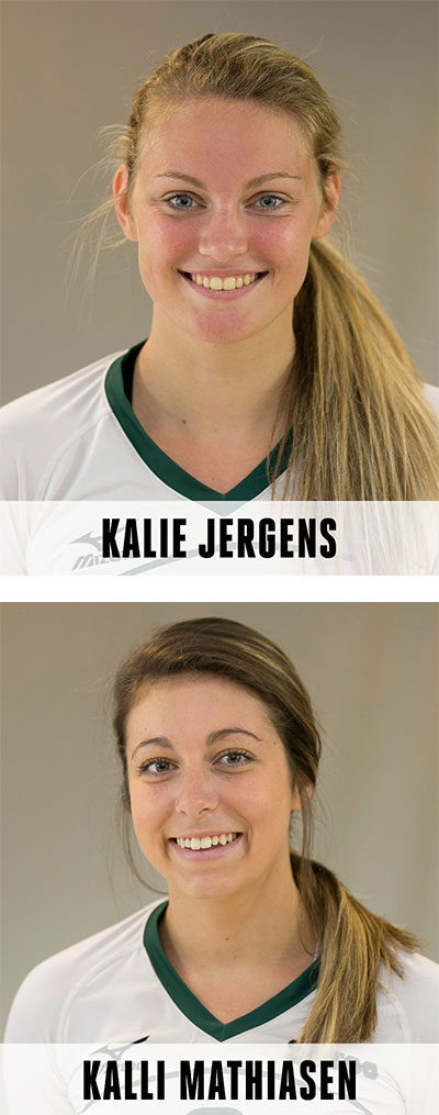 Vball All American Kalie and Kalli