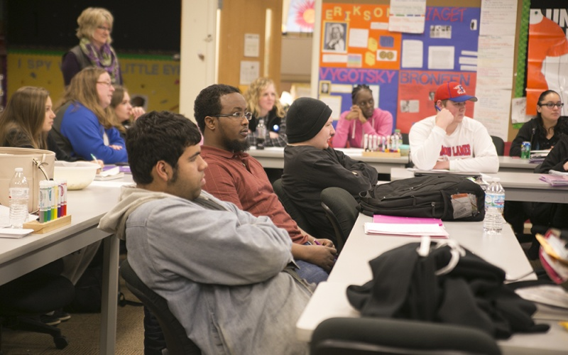 students focused on lecture