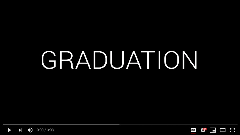 Graduation YouTube video frame