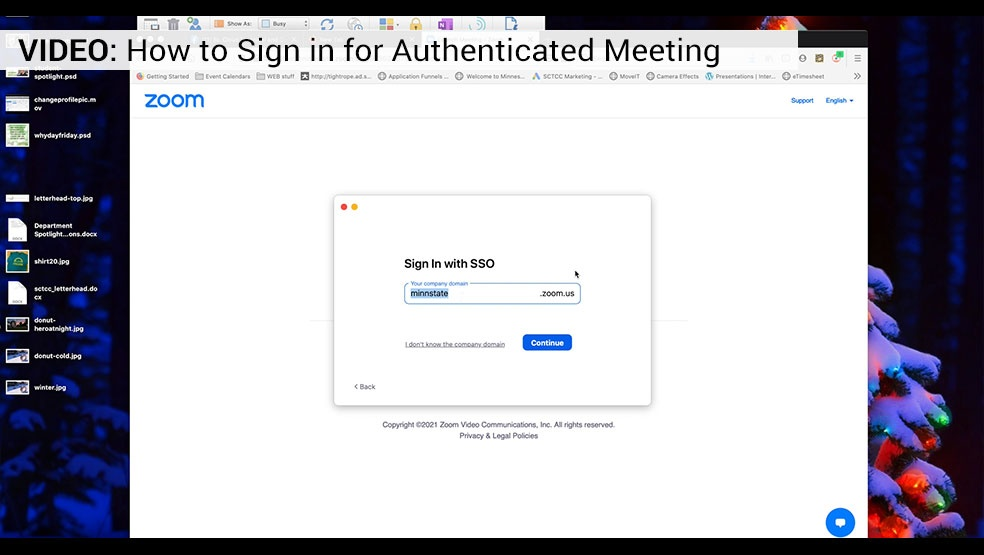 Video how to sign in for authenticated meeting