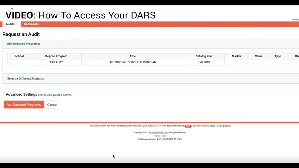 Access your Dars Video