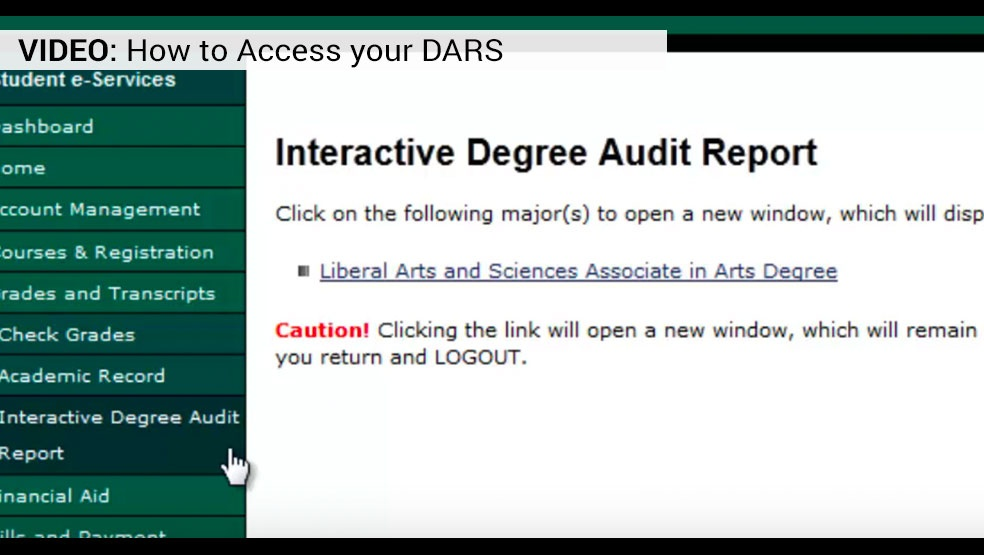 Access DARS video