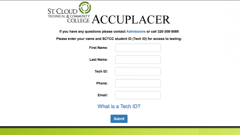 Accuplacer Placement Test Requirements | St. Cloud Technical ...