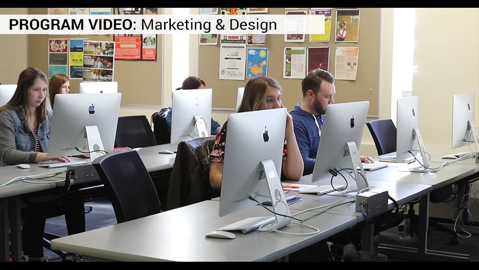 Marketing and design video frame