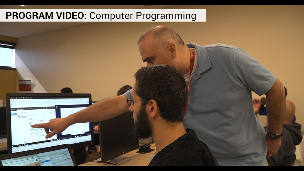 Computer Programming video frame
