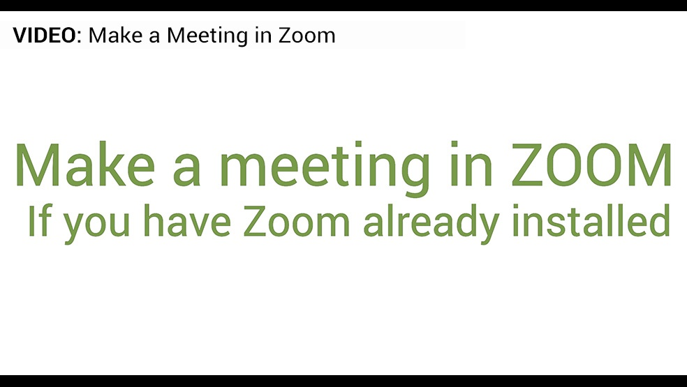 Zoom Meeting Video