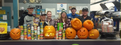 Automotives pumpkin carving