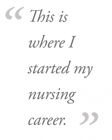 This is where I started my nursing career.