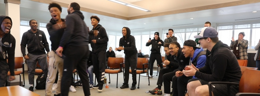 MBB finds out they're going to nationals