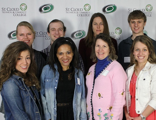9 alumni students in a bunch at the SCTCC Foundation Fundraiser
