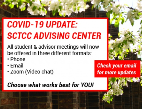 Academic Advising Center has switched to phone, email, or video chat meetings due to COVID-19.