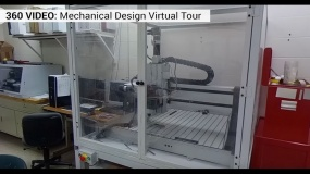 Large machine in mechanical design lab