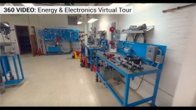 Lab with electronic equipment
