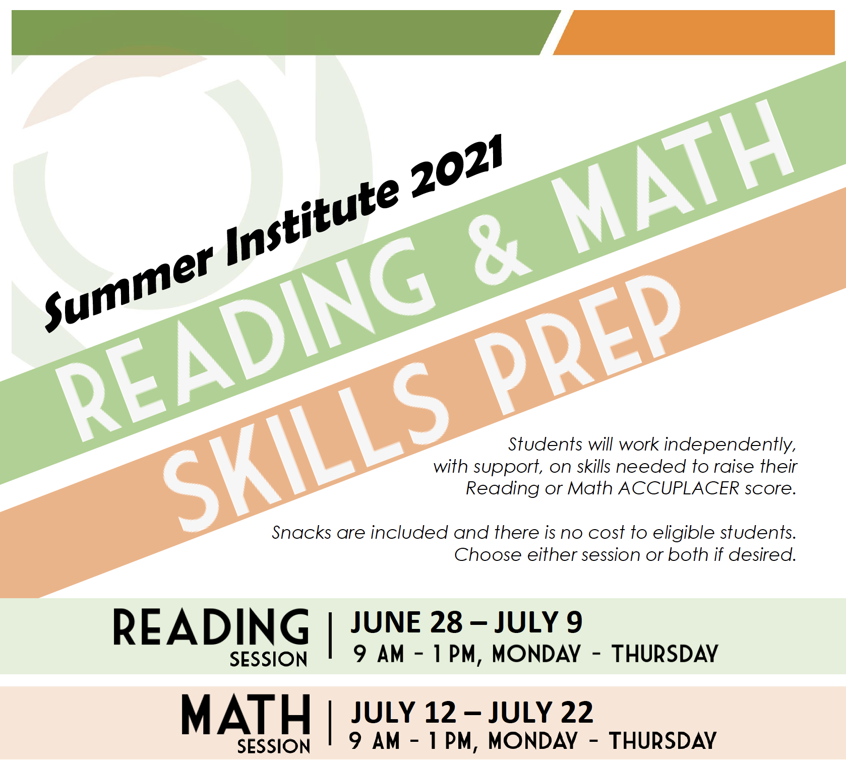 Summer Institute Flyer click for PDF