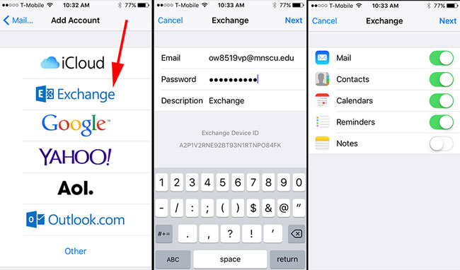 how to set iphone to sync unlimited emails pop